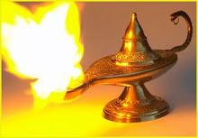 La lámpara mágica.