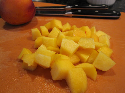 how to peel and cut a peach