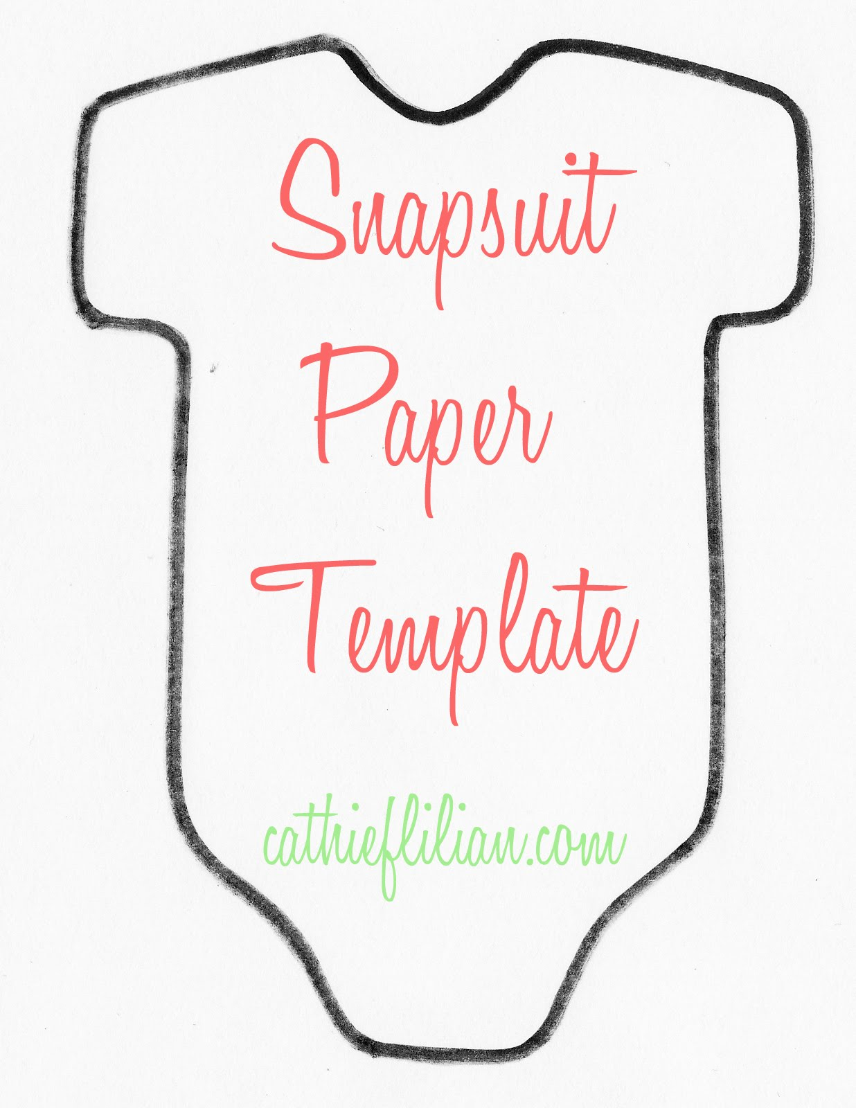 Cathie filian snapsuit decorating baby shower handmade for Baby shower decoration templates