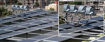 spotlight shaded solar array
