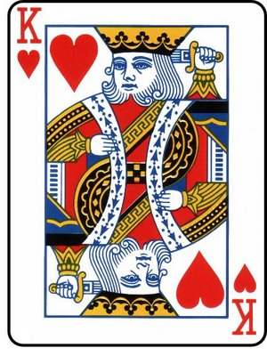 The king of hearts is the only king without a mustache