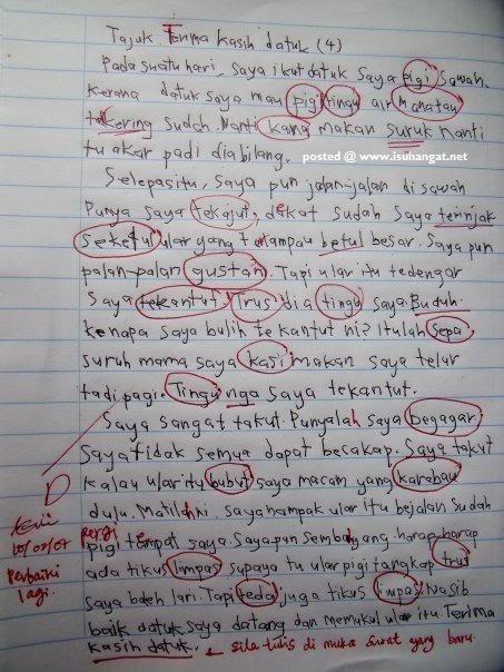 Bahasa slanga dalam penulisan pelajar: