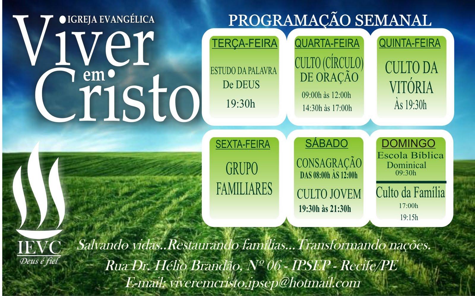 Igreja Evangélica Viver em Cristo - Ipsep