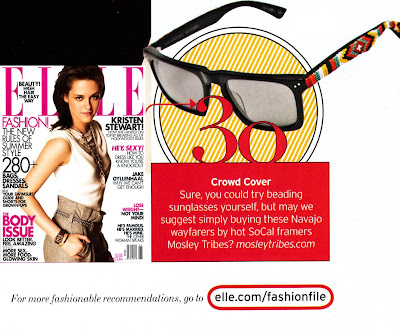 Elle magazine features beaded sunglasses by Jenny Dayco