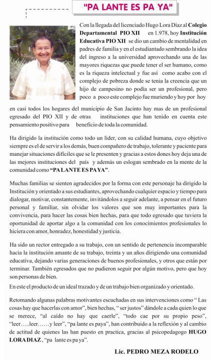 31 años en la I.E. Pío XII