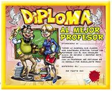 """"""" DIPLOMA AL MEJOR PROFESOR"""