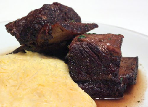 ... is cooking: Red Wine Braised Short Ribs with Creamy Mascarpone Polenta