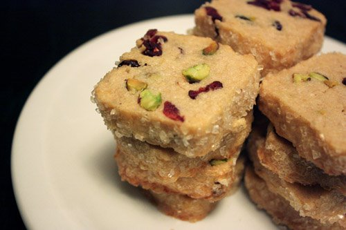 lisa is cooking: Pistachio Cranberry Icebox Cookies