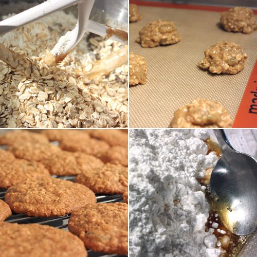 lisa is cooking: Iced Oatmeal Applesauce Cookies and Peanut Butter ...