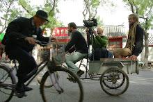 Fra filming i Beijing