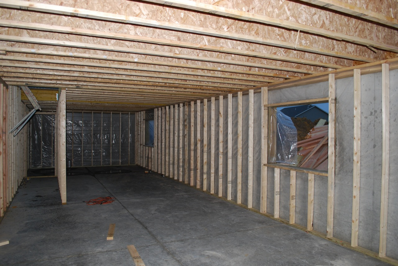basement today today they framed all of the exterior walls of the