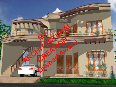 MY ARCHITECTURAL CREATION (:- Useing CAD, 3ds Max and Photoshop -:)