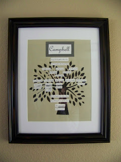 crafts for home decor: family tree knockoff tutorial