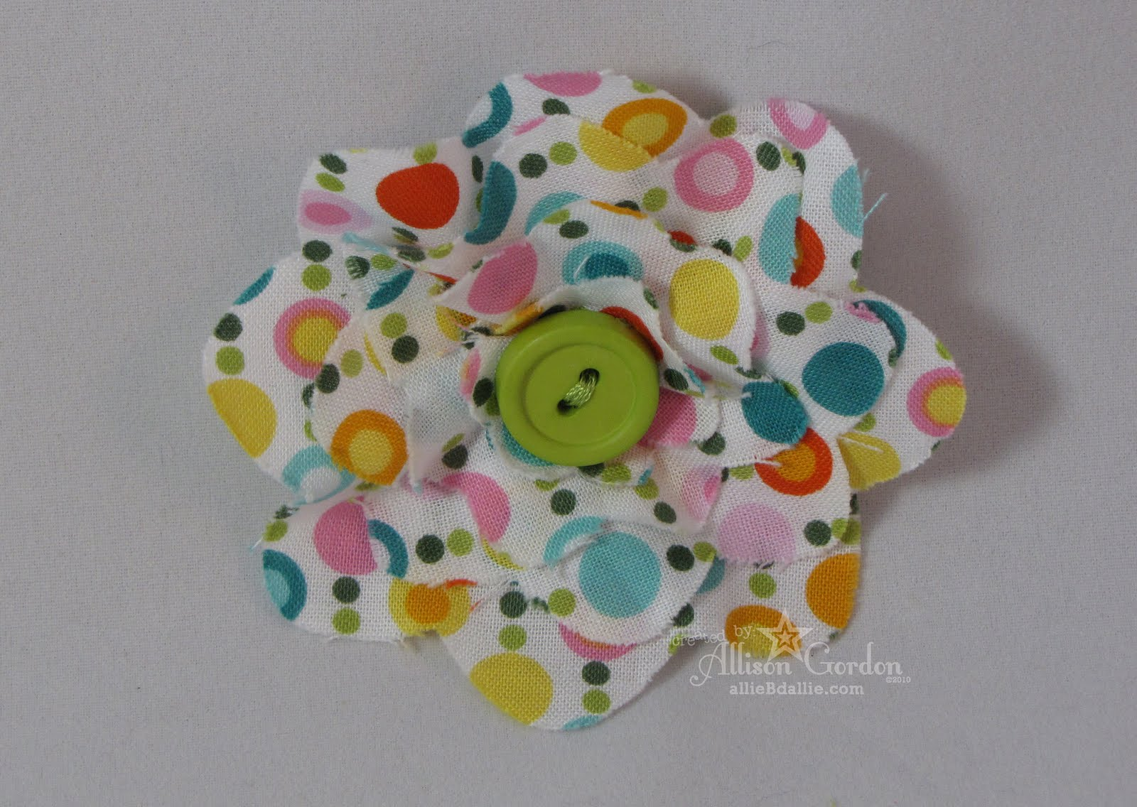 Sew Can Do How To Make Die Cut Fabric Flowers