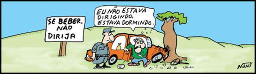 TIRAS: Lei Seca. Se beber não dirija!