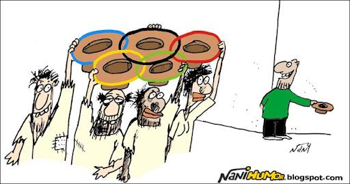 Resultado de imagem para calote olímpico charge