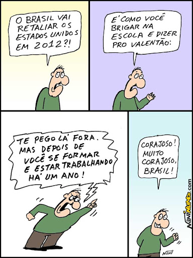 Brasil vai retaliar EUA só em 2012