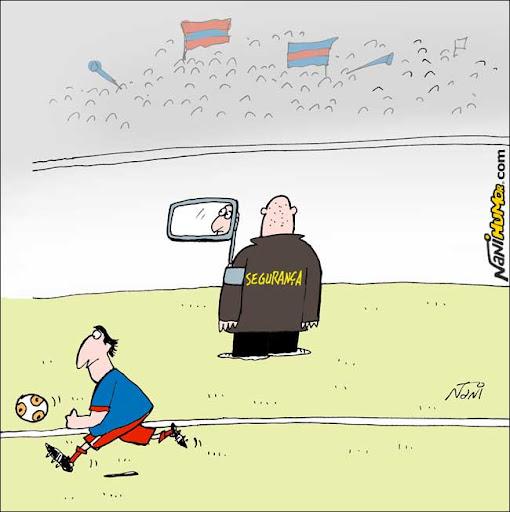Nani na Copa. Segurança