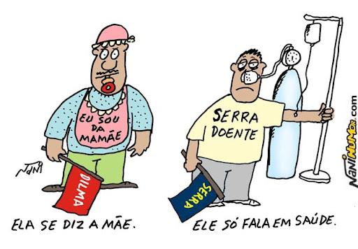 Eleições. Dilma a mãe e José Serra a saúde