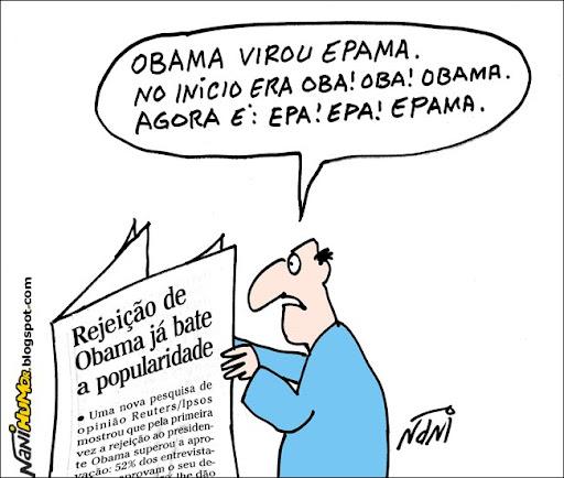 Rejeição de Obama já bate a popularidade. Obama muda de nome