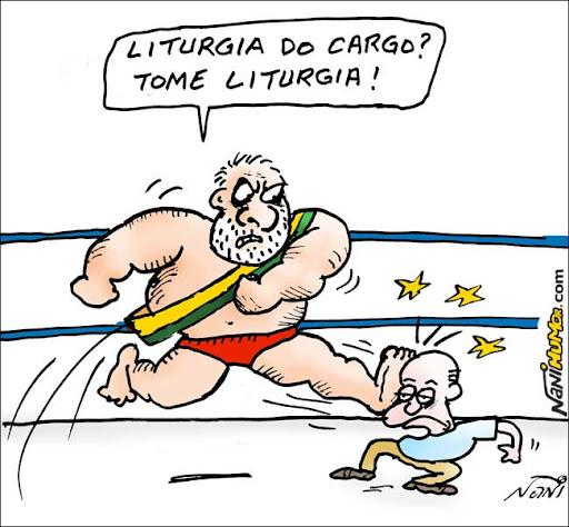Eleições 2010. Lula e Serra na Luta Livre