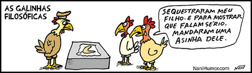 TIRAS: As Galinhas Filosóficas. asinha de galinha