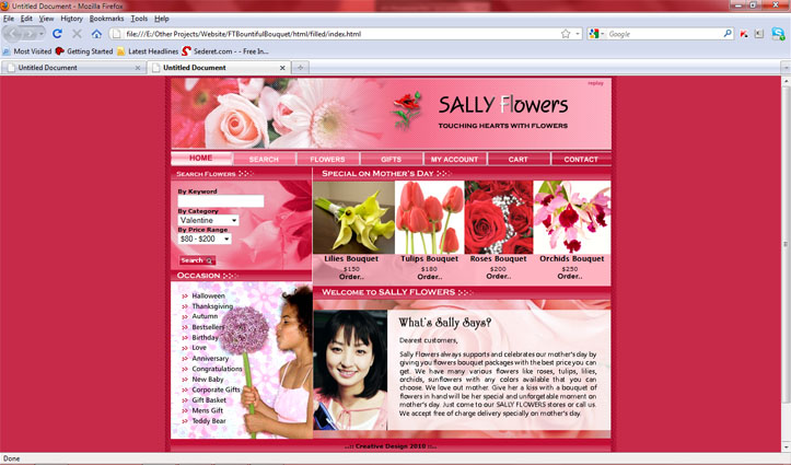 This is another of my unfinished project on web design. The web header