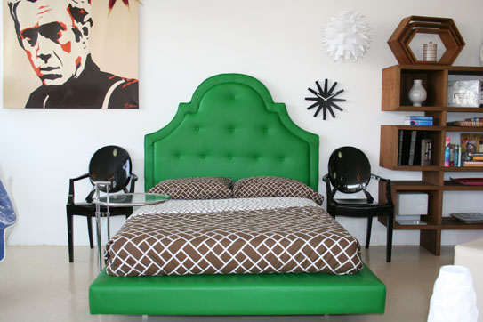 A Green Bed, And Couch Are Just What These Spaces Needed! They Bring A Pop  Of Color, Yet They Arenu0027t Too Overwhelming Either. Love It!
