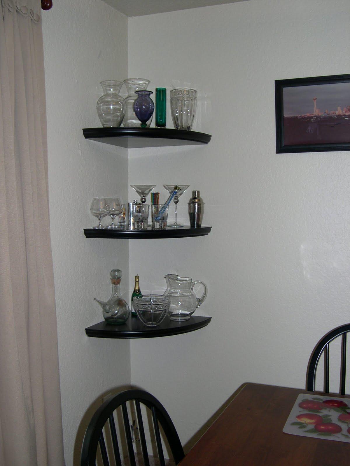 floating glass shelves corner - Glass Corner Shelves