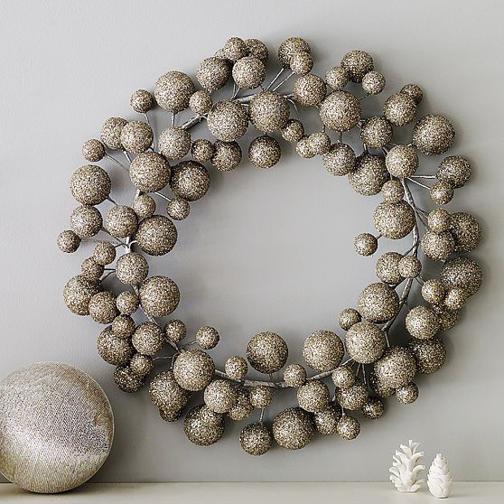 The Wool Acorn Modern Christmas Wreath