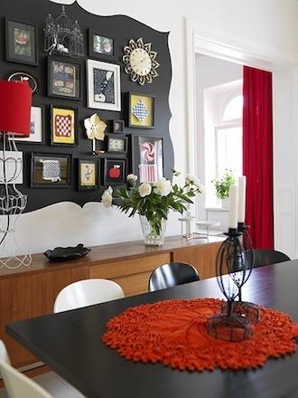 The wool acorn new twist on wall arrangements - Picture arrangements on wall ...
