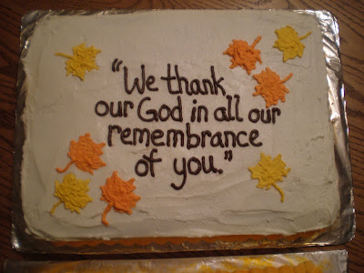 Pastor Appreciation Cake http://becoming-new.blogspot.com/2009/11/pastor-appreciation-cakes.html