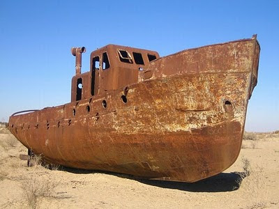Aral Sea+ 03 784509 Gambar Laut Ke 4 Terbesar Dunia Yang Telah Hilang Tahun 2008