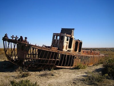Aral Sea+ 05 786350 Gambar Laut Ke 4 Terbesar Dunia Yang Telah Hilang Tahun 2008