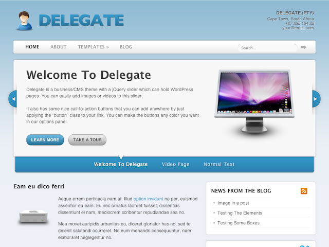 Delegate Wordpress Theme by Woothemes Free Download.