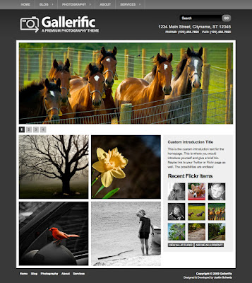 Gallerific - Photography Wordpress Theme Free Download