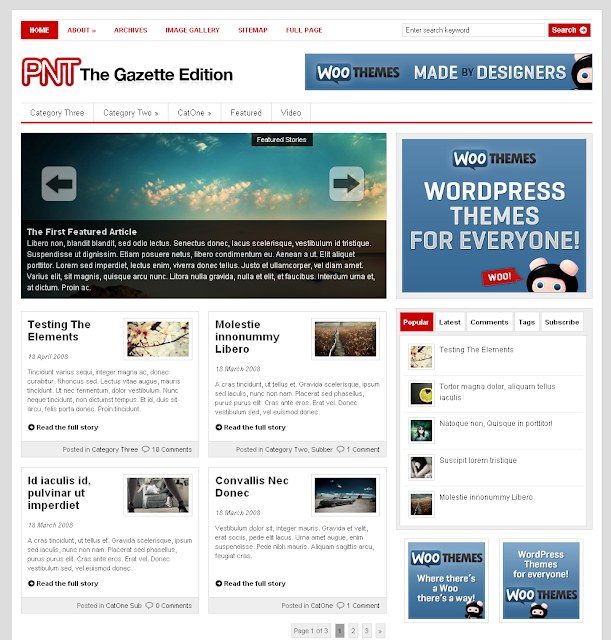 The Gazette Edition Wordpress Theme Free Download.