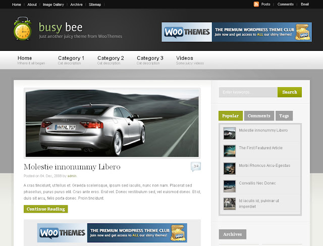 Busy Bee Wordpress Theme Free Download.