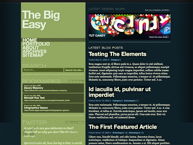 The Big Easy WordPress Theme Free Download.