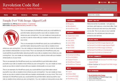 Revolution Code Red Wordpress Theme Free Download.
