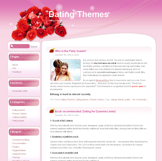 Bouquet of love dating wordpress theme free download.