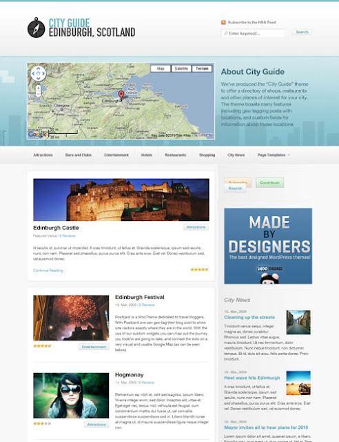 City Guide Travel Wordpress Theme Free Download.