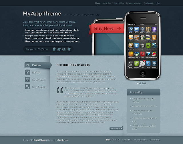 MyApp Wordpress Theme by ElegantThemes Free Download.