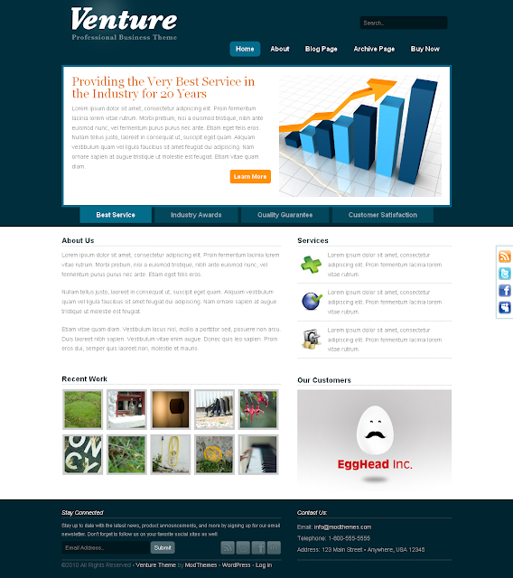 Venture Professional Business Wordpress Theme by ModThemes Free Download.