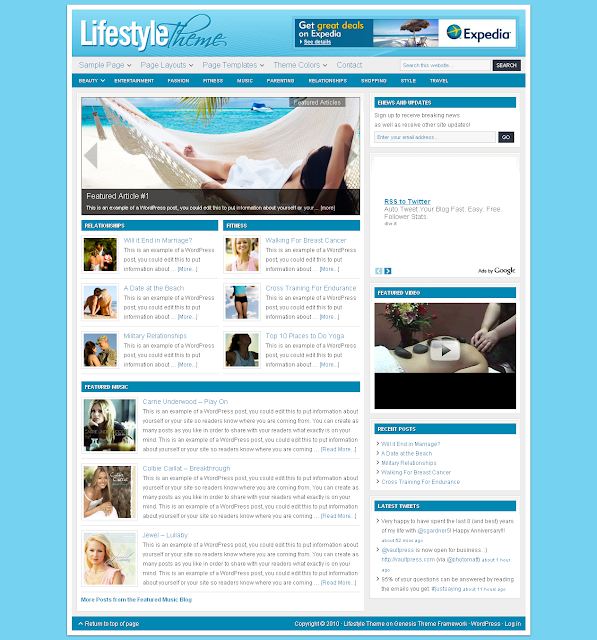 Lifestyle Child Theme Free Download.