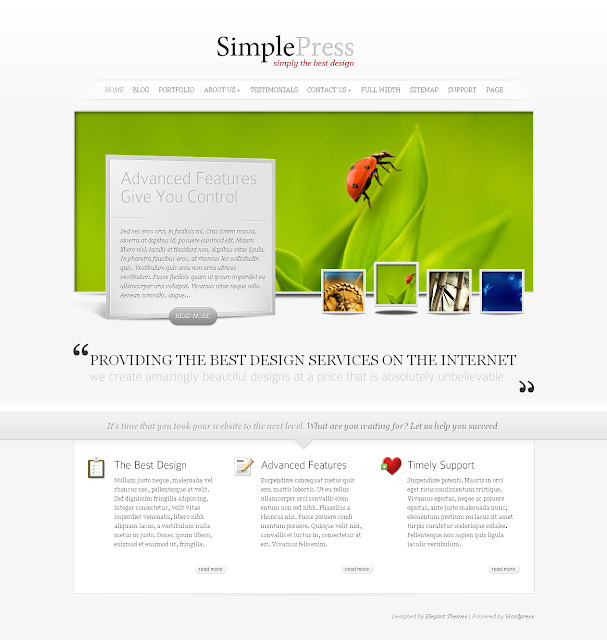 SimplePress Wordpress Theme Free Download by ElegantThemes.