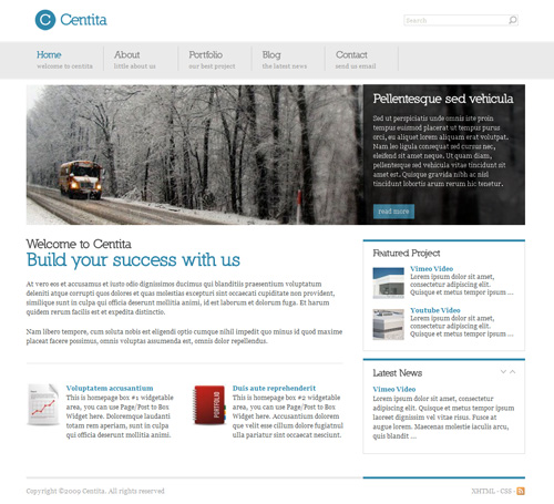 Centita – Minimalist Business Wordpress Theme Free Download by Themeforest.