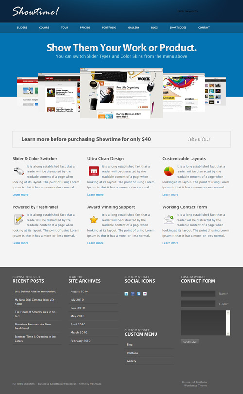 Showtime WordPress Theme Free Download by Themeforest.