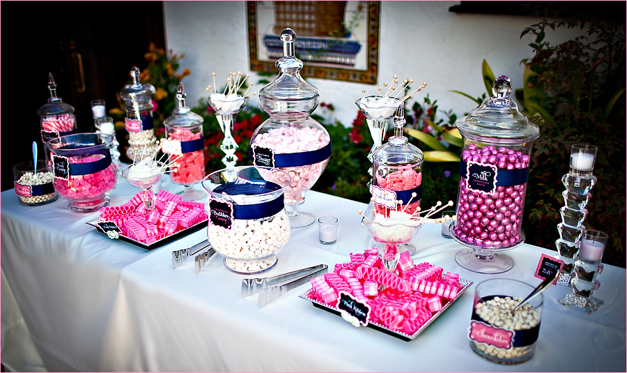 Madly stylish events sparkly wedding candy buffet