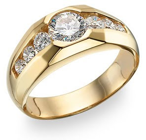 Cubic Zirconia Jewelry Men Ring